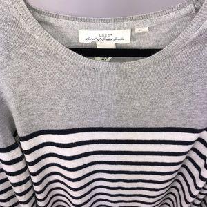 H&M Striped Large Sweater
